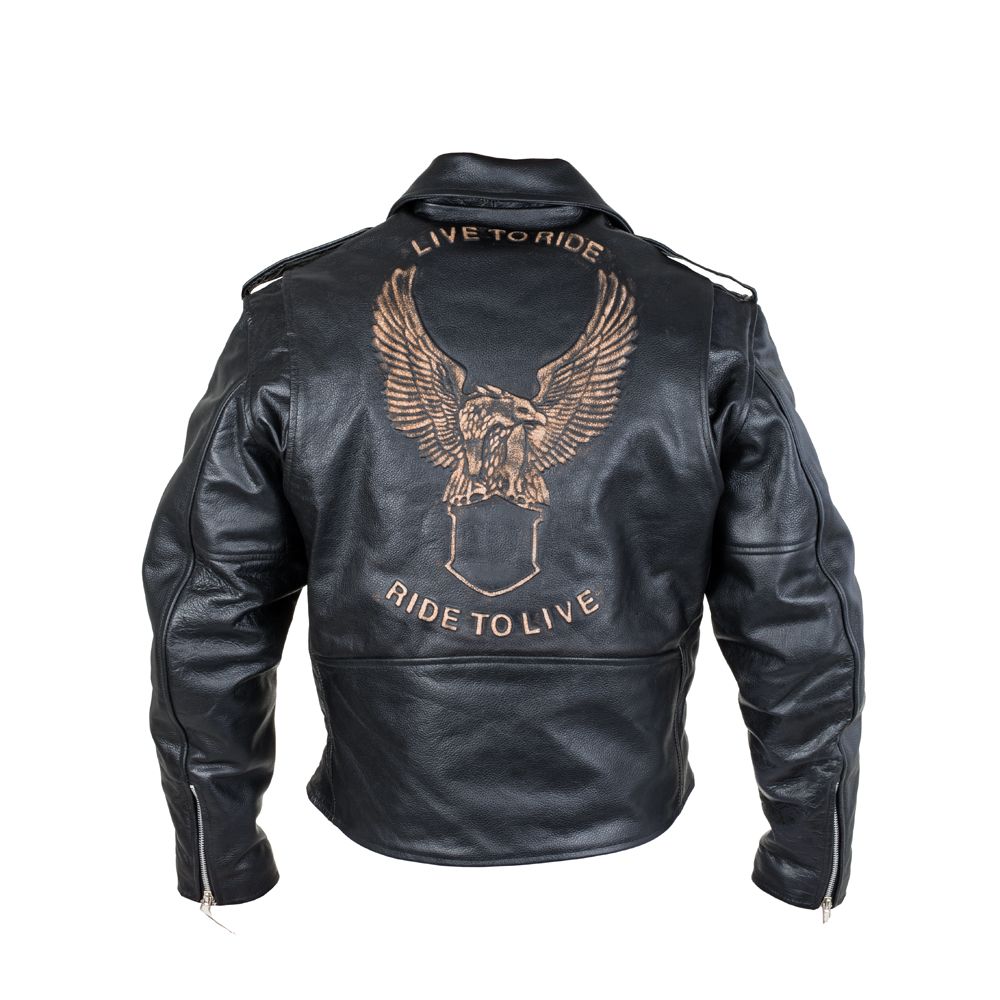 Kožená moto bunda Sodager Live To Ride Jacket M