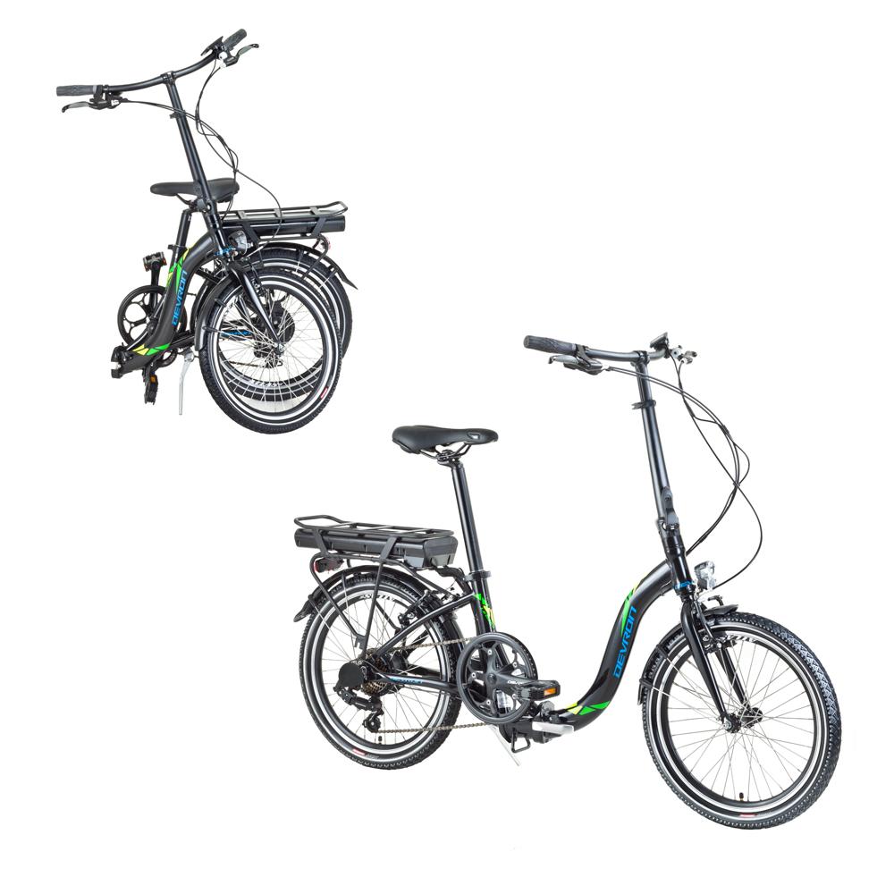 """Skladací elektrobicykel Devron 20122 20"""" - model 2017 čierna - Záruka 10 rokov"""