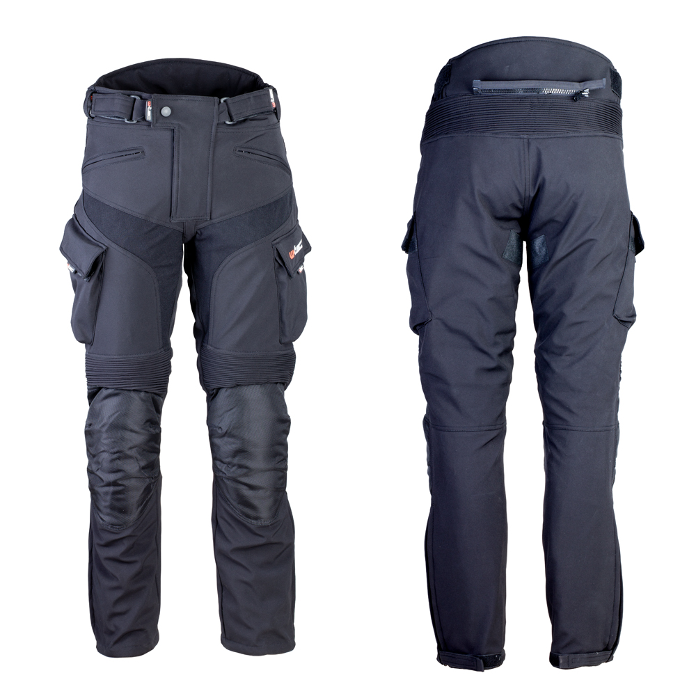 Pánske softshellové moto nohavice W-TEC Erkalis čierna - M