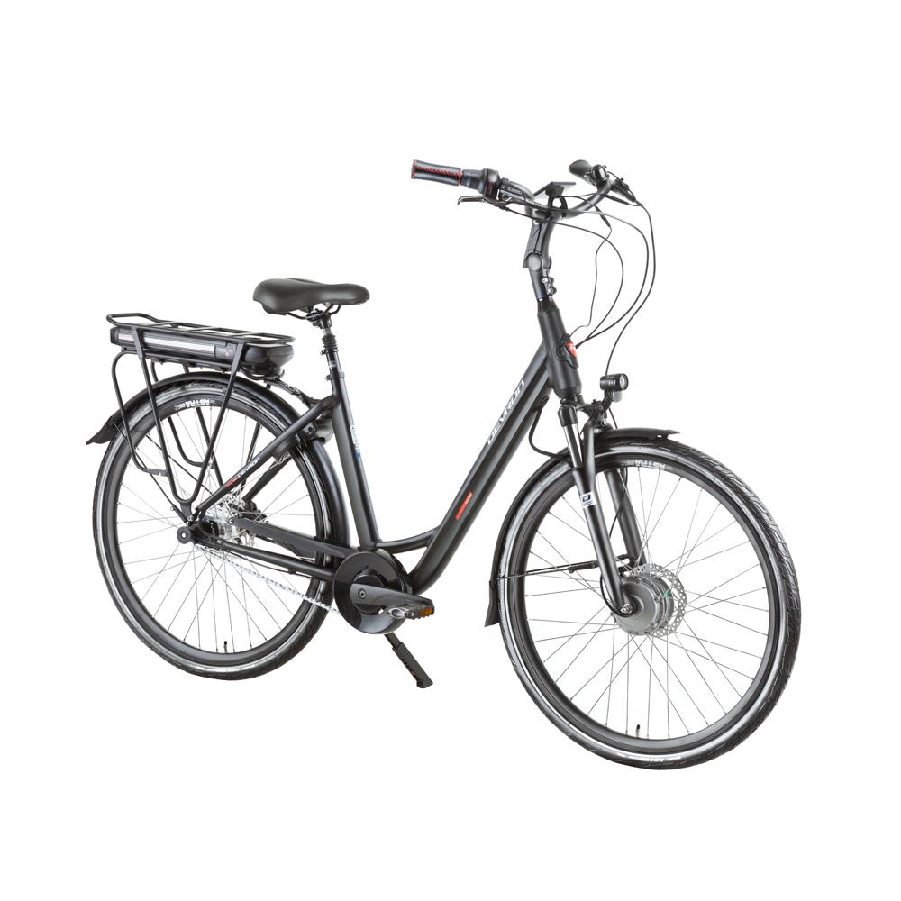 "Mestský elektrobicykel Devron 28126 28"" - model 2019 Black - 19,5"" - Záruka 10 rokov"