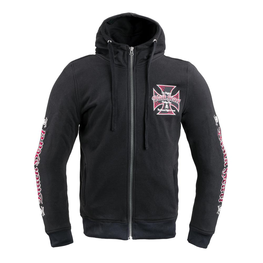 Pánska mikina W-TEC Black Heart Vintage Iron Hoodie čierna - XXL