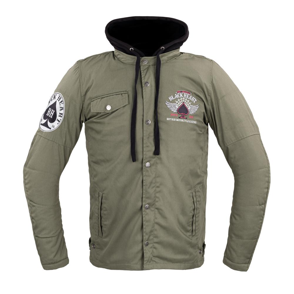 Pánska bunda W-TEC Black Heart Hat Skull Jacket s aramidom khaki - S