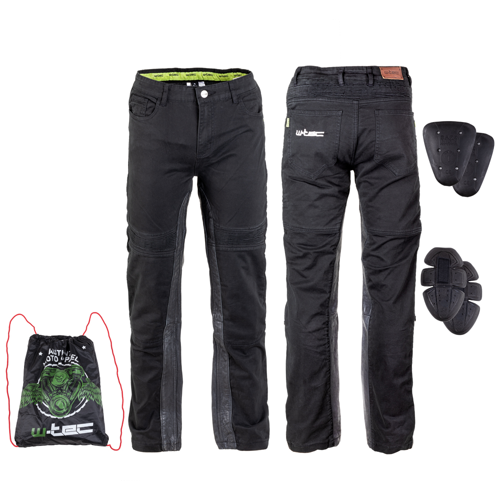 Pánske moto nohavice W-TEC Raggan čierna - XL