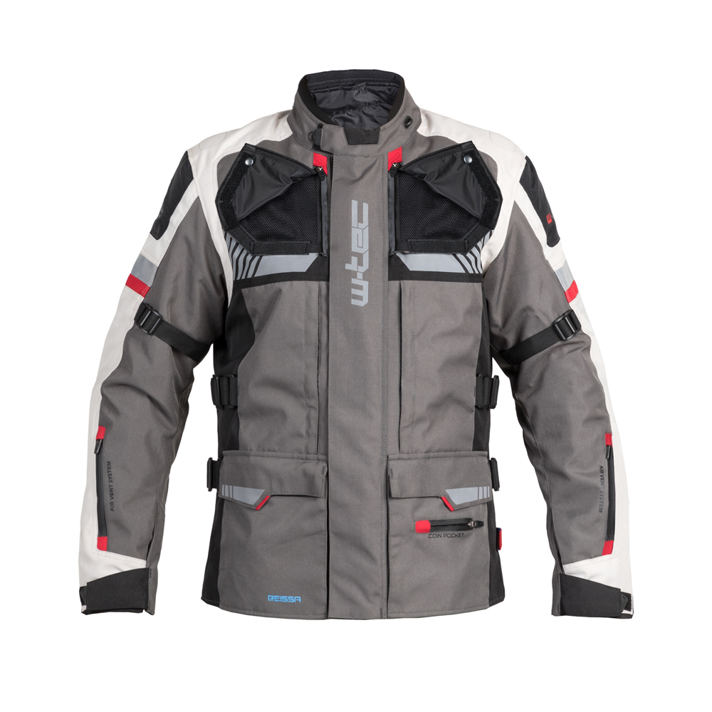 Touringová moto bunda W-TEC Excellenta Thunderstorm Gray - 6XL