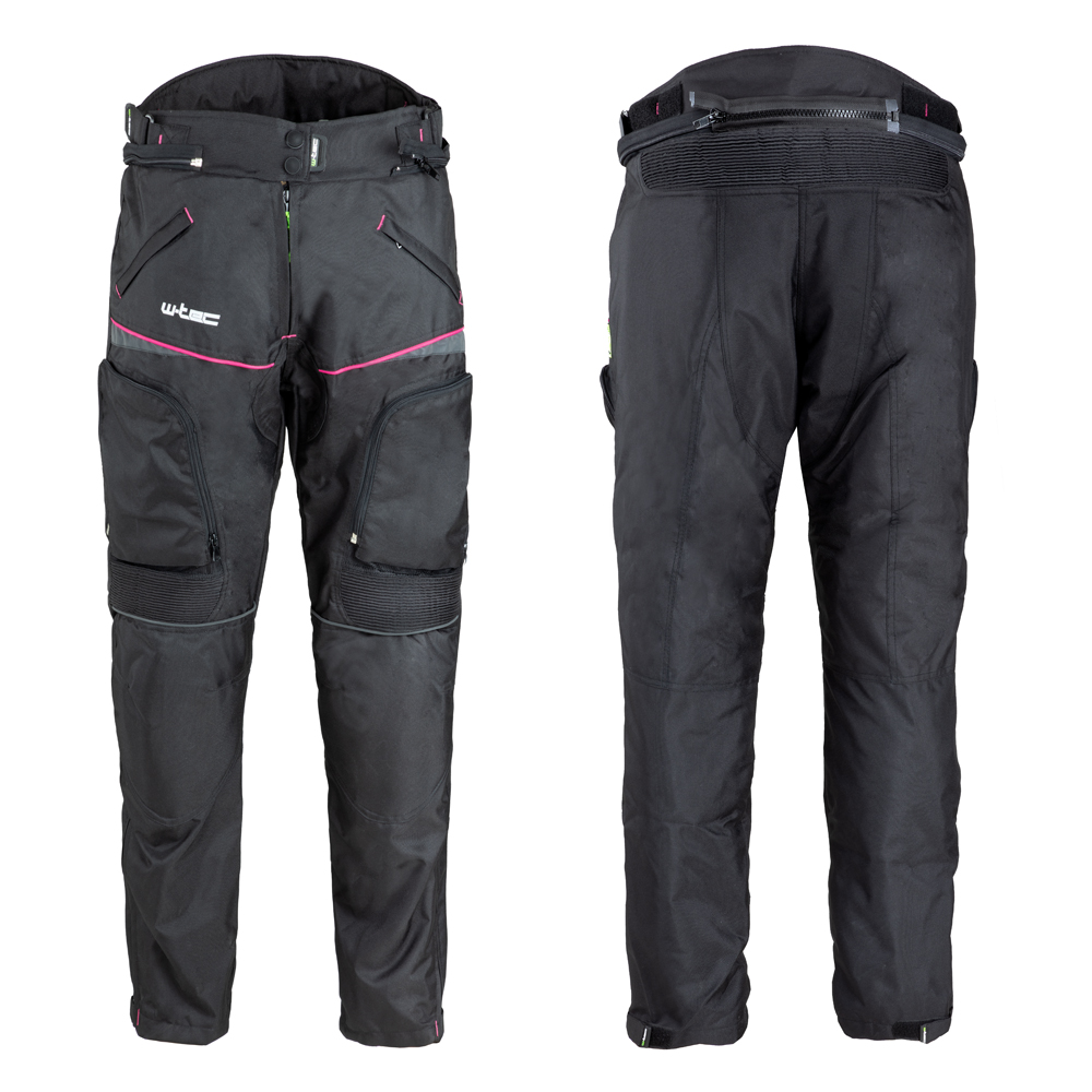 Dámske moto nohavice W-TEC Propant Lady čierno-ružová - S