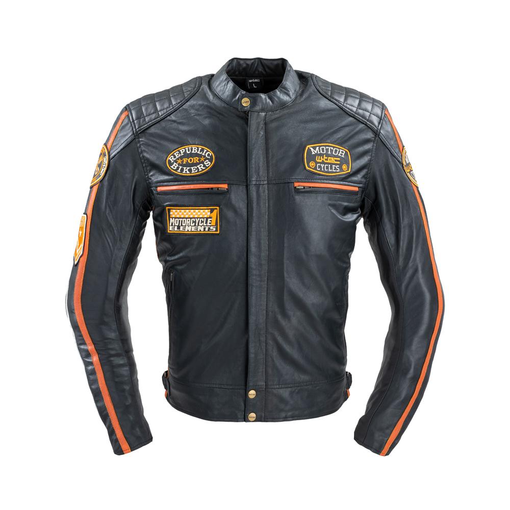 Pánska kožená moto bunda W-TEC Sheawen Classic