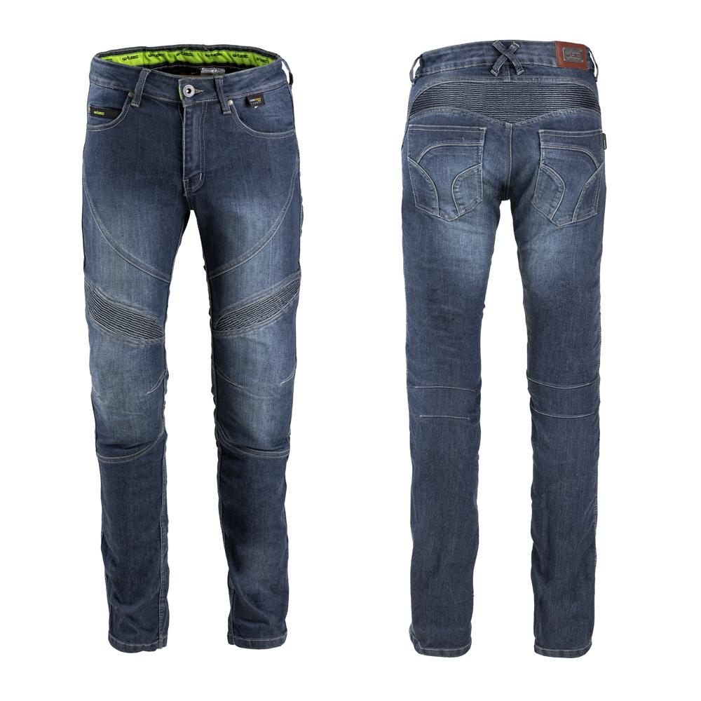 Pánske moto jeansy W-TEC Oliver modrá - S