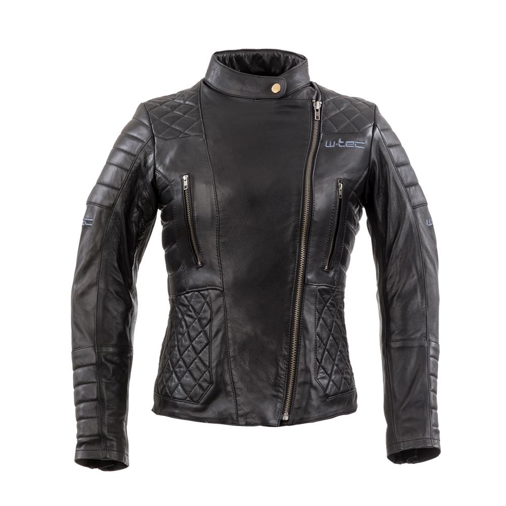 Dámska kožená moto bunda W-TEC Corallia Black - XS