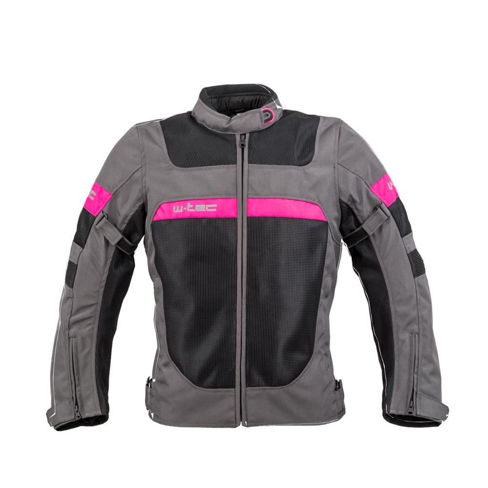 Dámska letná moto bunda W-TEC Monaca Black Mesh-Pink - XS
