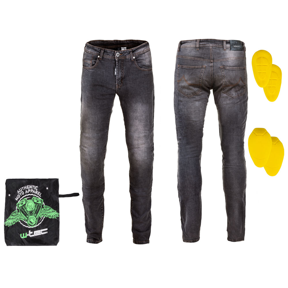 Pánske moto jeansy W-TEC Kancelor