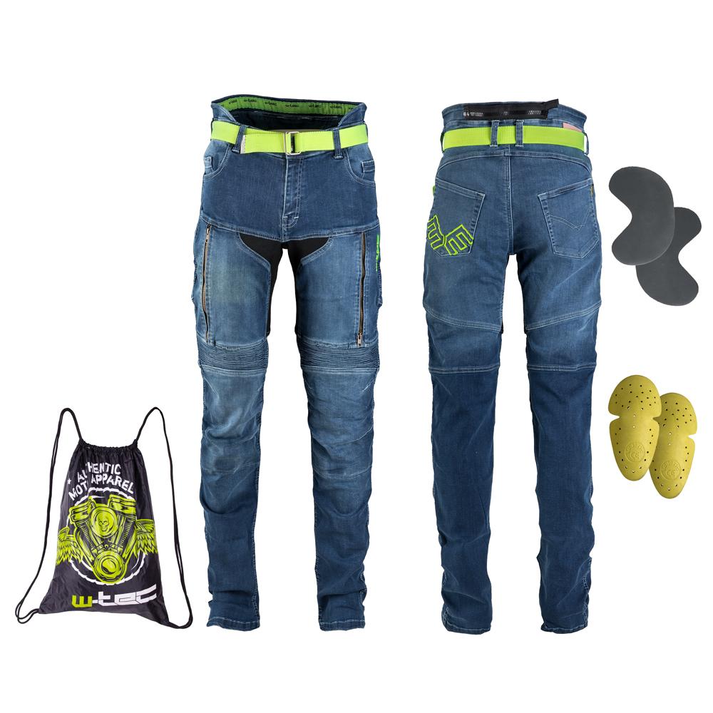 Dámské moto jeansy W-TEC Ekscita modrá - 36