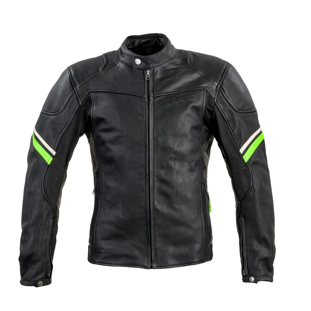 Kožená moto bunda W-TEC Montegi matne čierna - M