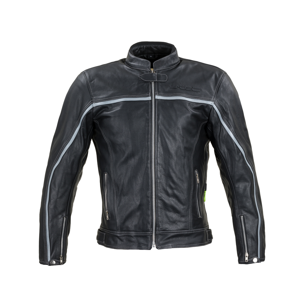 Kožená moto bunda W-TEC Mathal čierna - 5XL