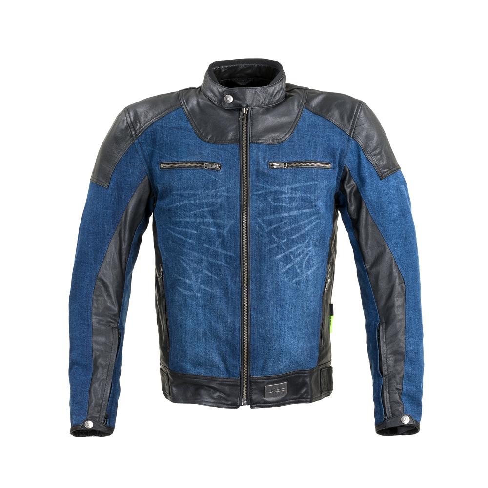 Moto bunda W-TEC Kareko modrá - L