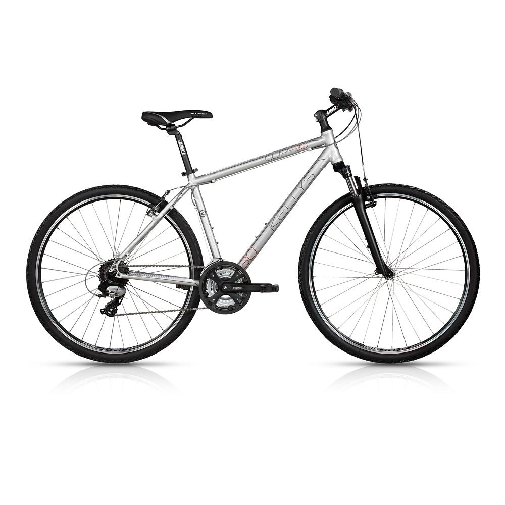 """Pánsky crossový bicykel KELLYS CLIFF 30 28"""" - model 2017 Silver - 21"""" - Záruka 10 rokov"""
