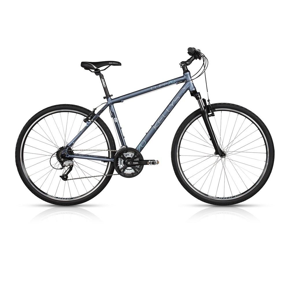 """Pánsky crossový bicykel KELLYS CLIFF 70 28"""" - model 2017 Grey - 430 mm (17"""") - Záruka 10 rokov"""