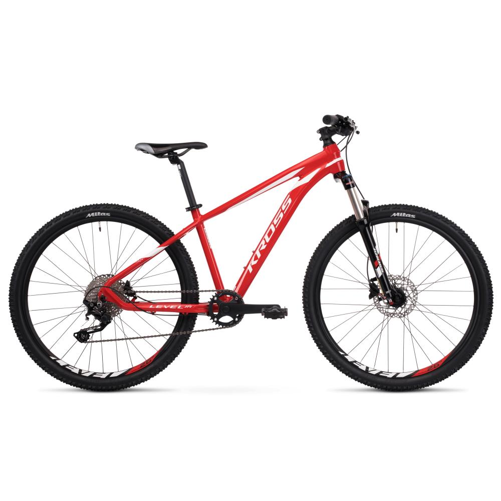 """Juniorský bicykel Kross Level JR TE 24"""" - model 2020 červeno-biela - 13"""" - Záruka 10 rokov"""