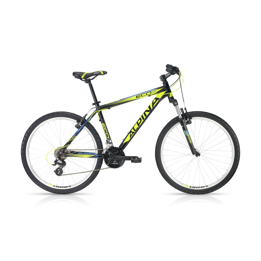 Horský bicykel ALPINA ECO M20 black-lime 26