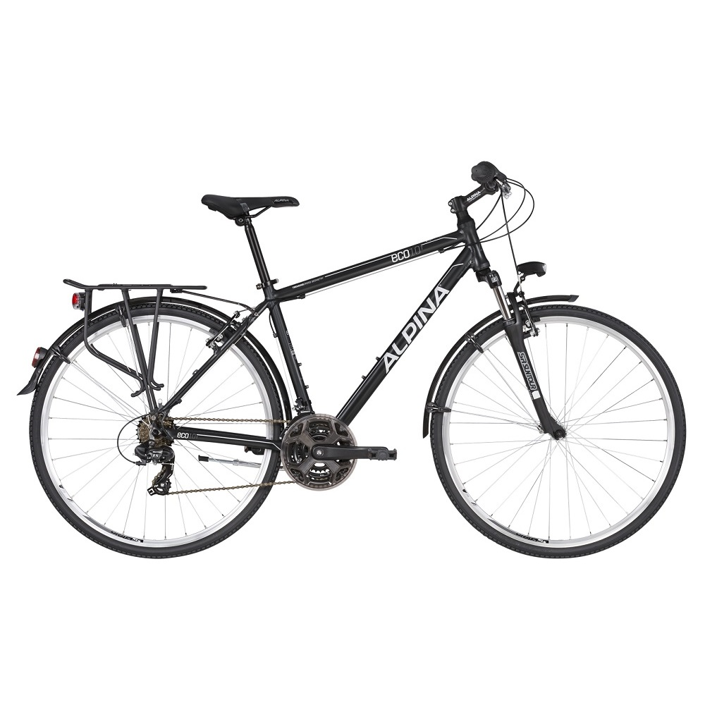 """Pánsky trekingový bicykel ALPINA ECO T10 28"""" - model 2020 Grey - S (17'') - Záruka 10 rokov"""
