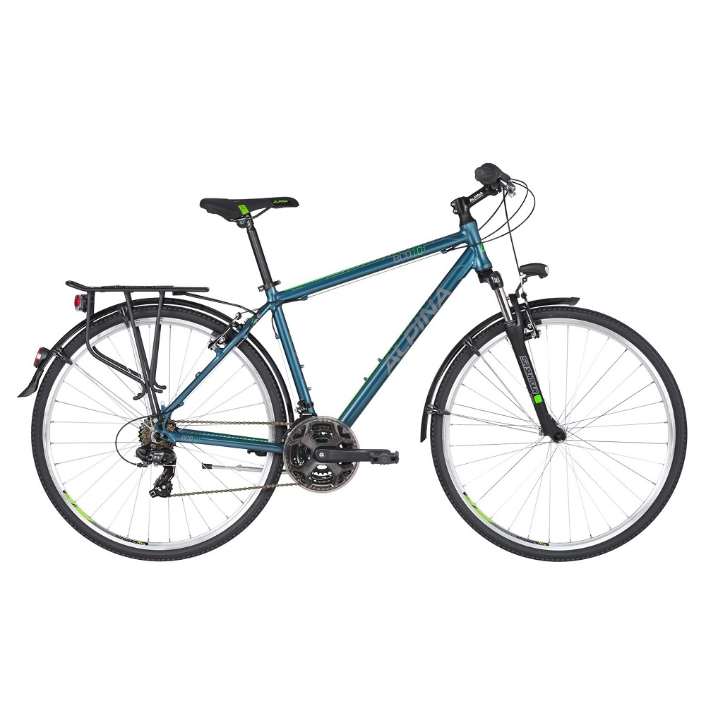 "Pánsky trekingový bicykel ALPINA ECO T10 28"" - model 2020 Ocean - S (17'') - Záruka 10 rokov"