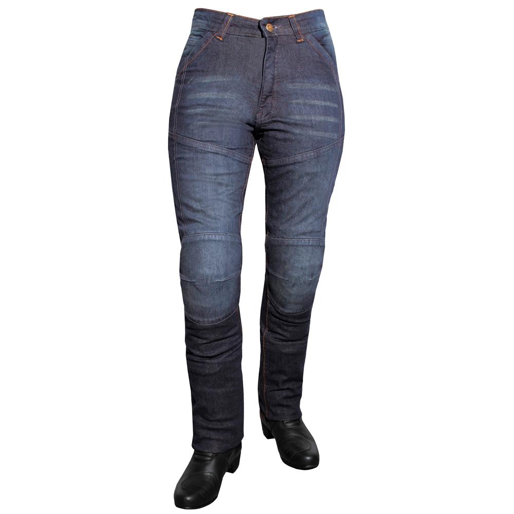 Dámske jeansové moto nohavice ROLEFF Aramid Lady modrá - 31/L