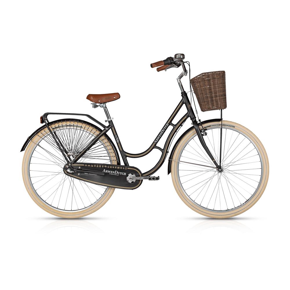 "Mestský bicykel KELLYS ARWEN DUTCH 28"" - model 2017 Black - 460 mm (18"") - Záruka 10 rokov"