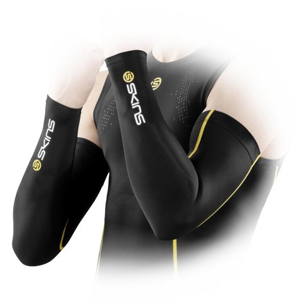 Kompresné rukávy Skins A400 - žltá
