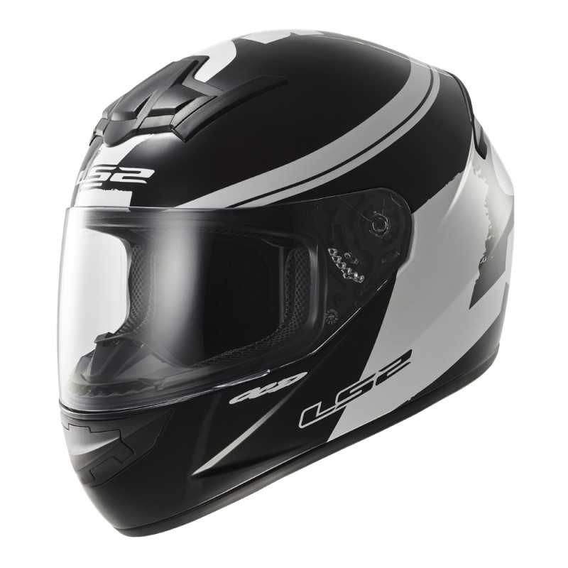 Moto prilba LS2 FF352 Rookie Fluo Black-White