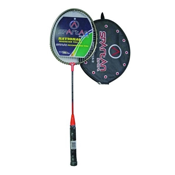 Badmintonová raketa SPARTAN DROP SHOT červeno-bronzová