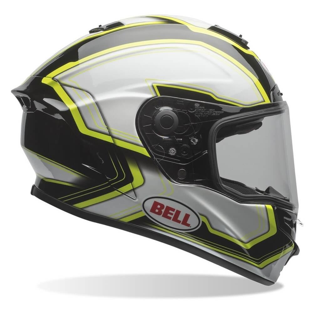 Moto helma BELL Star Pace Black-White - S (55-56) - Záruka 5 rokov