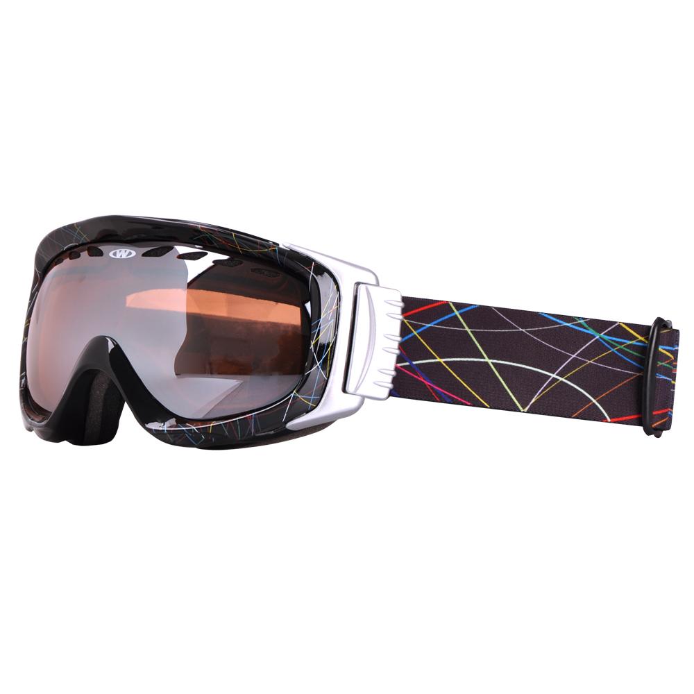 dc0a1a849 Lyžiarske okuliare WORKER Bennet s grafikou čierny grafit