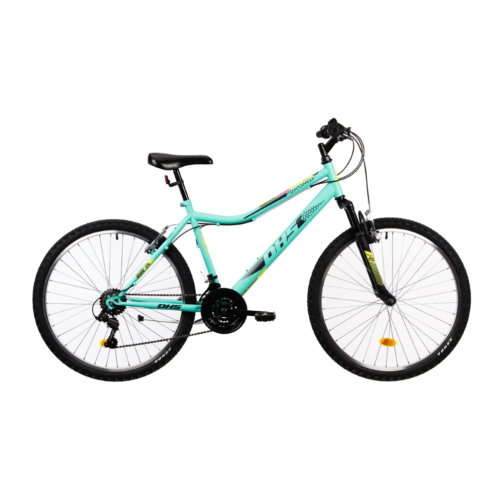 """Dámsky horský bicykel DHS 2604 26"""" - model 2021 TURQUOISE"""