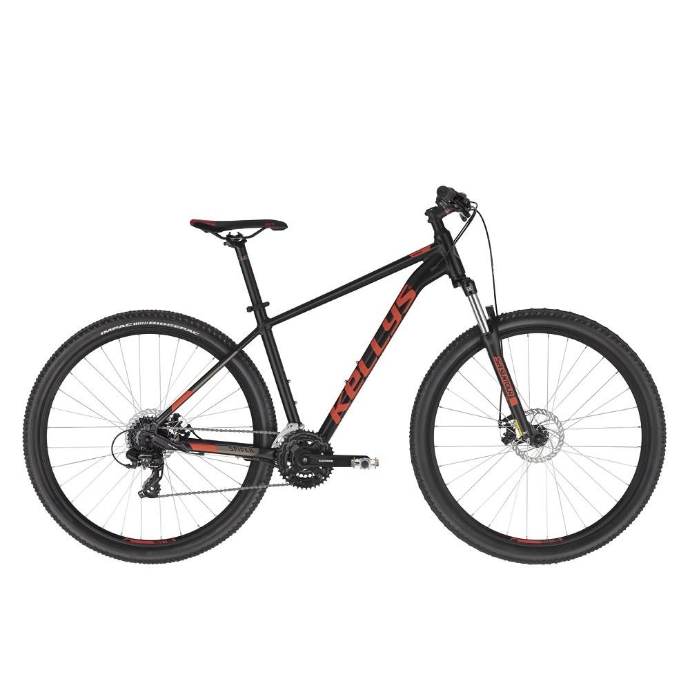 "Horský bicykel KELLYS SPIDER 30 29"" - model 2021 Black - S (17'')"
