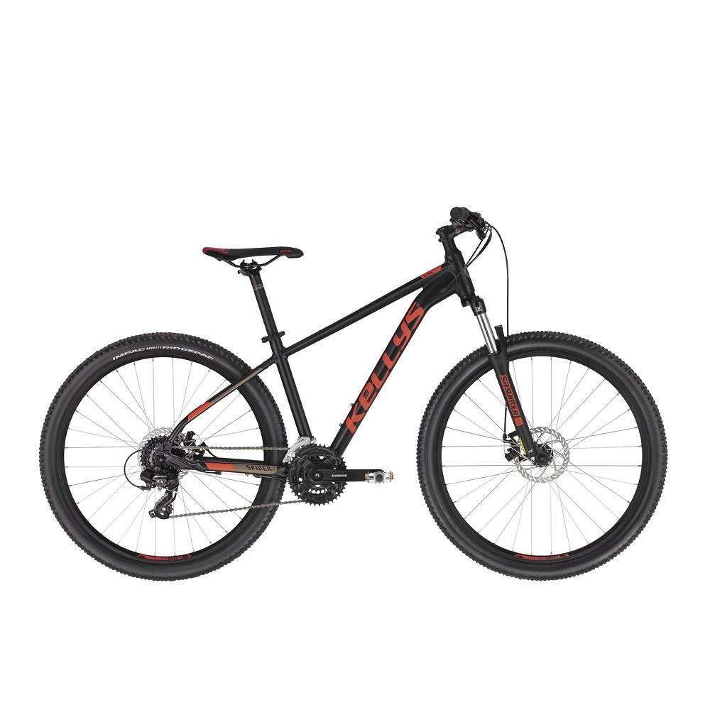 "Horský bicykel KELLYS SPIDER 30 27,5"" - model 2021 Black - S (17'') - Záruka 10 rokov"