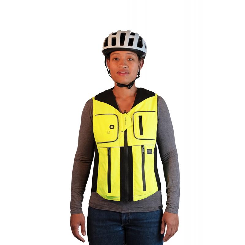 Airbagová vesta pre cyklistov Helite B'Safe zeleno-žltá - S