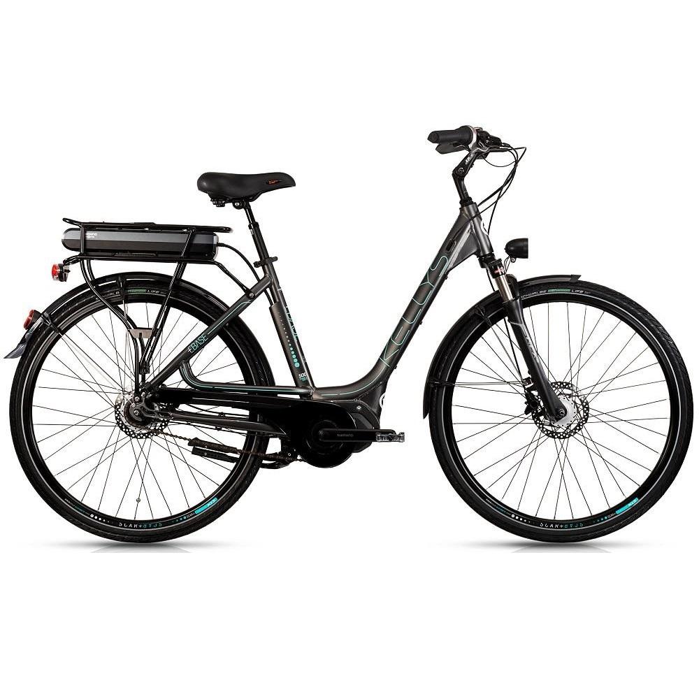 """Mestský elektrobicykel Kellys Ebase 28"""" - model 2018 Dark - 450 mm (17,5"""") - Záruka 10 rokov"""