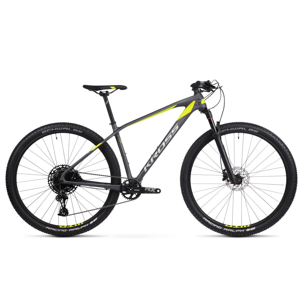 "Horský bicykel Kross Level 12.0 29"" - model 2020 grafitová/limetková/strieborná - L (19"") - Záruka 10 rokov"