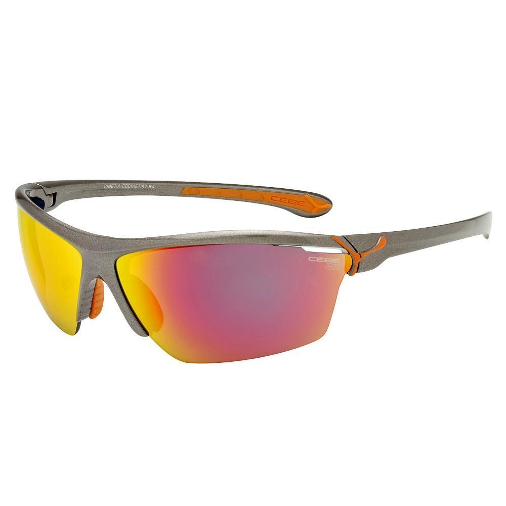 Cyklistické okuliare Cébé Cinetik šedo-oranžová