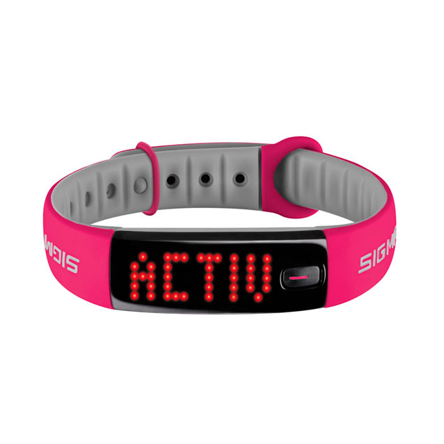 Fitness náramok Sigma Activo ružovo-šedá