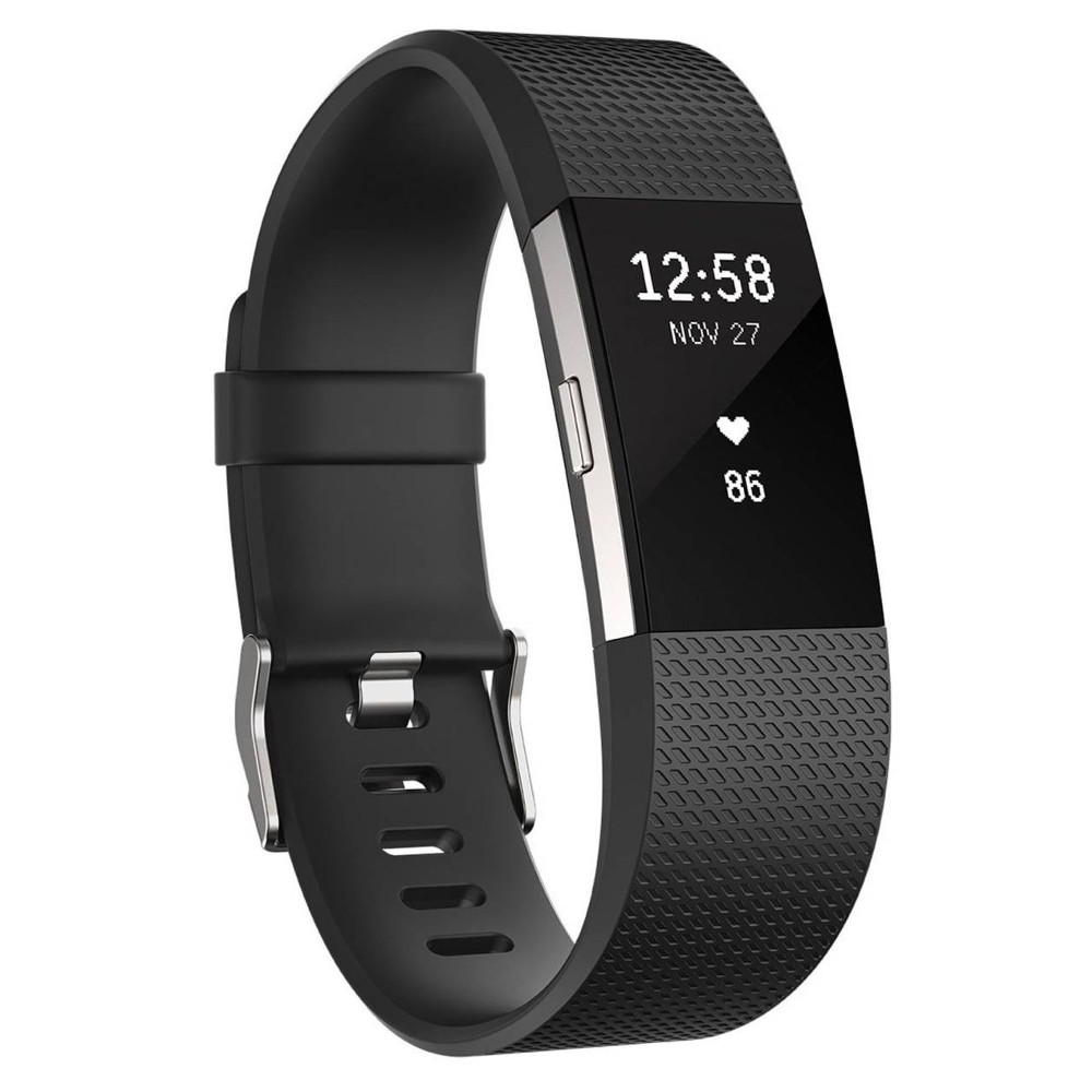 Fitness náramok FITBIT Charge 2 Black Silver S