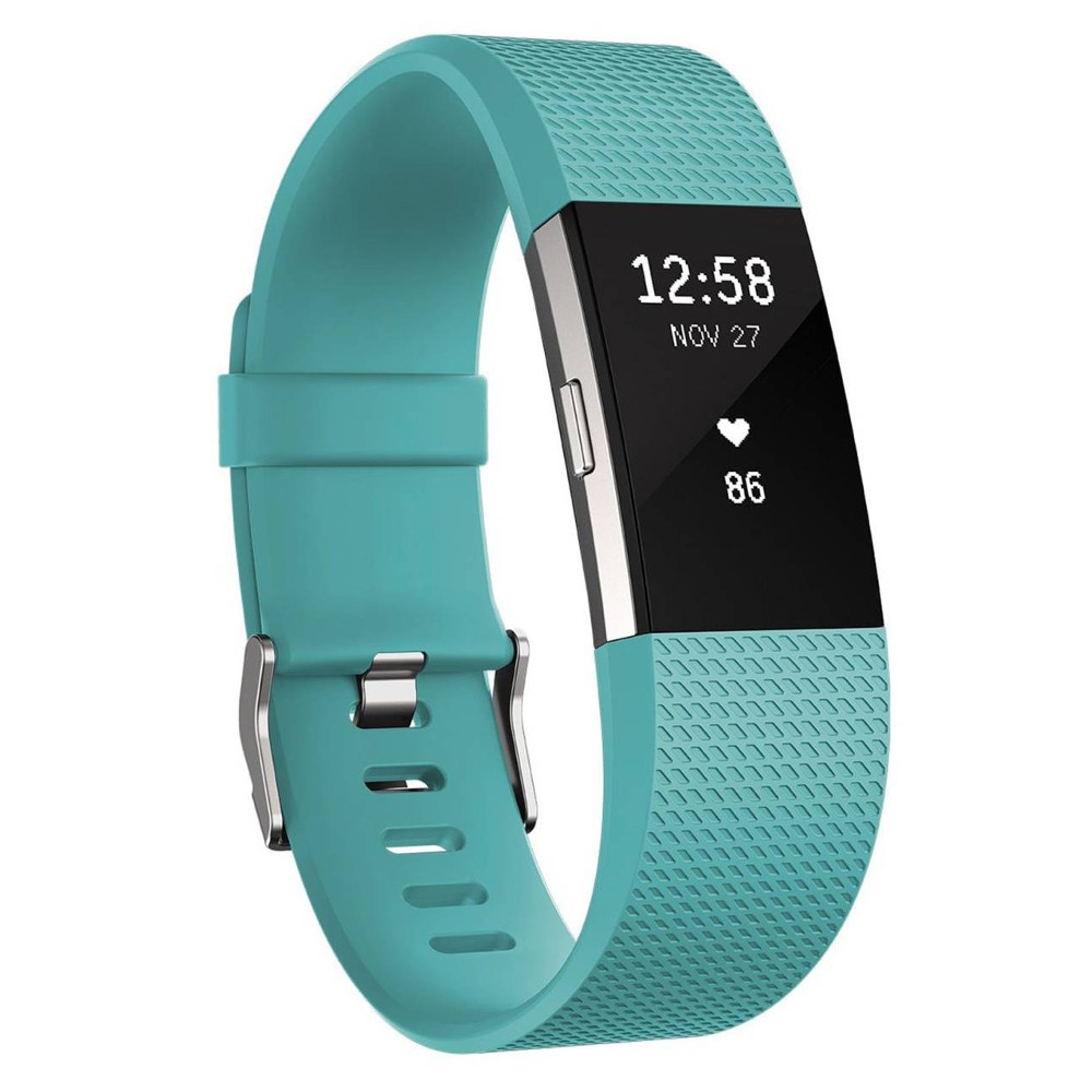Fitness náramok FITBIT Charge 2 Teal Silver S