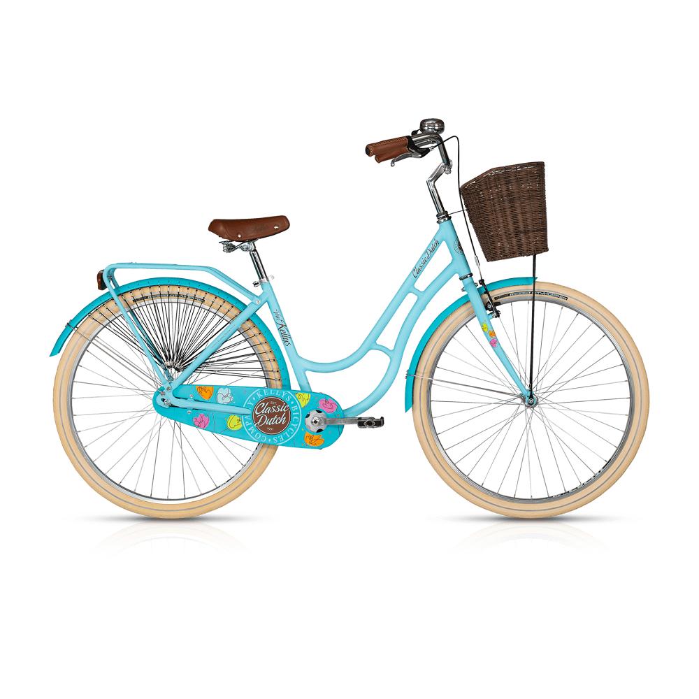 "Mestský bicykel KELLYS CLASSIC DUTCH 28"" - model 2017 blue - 460 mm (18"") - Záruka 10 rokov"