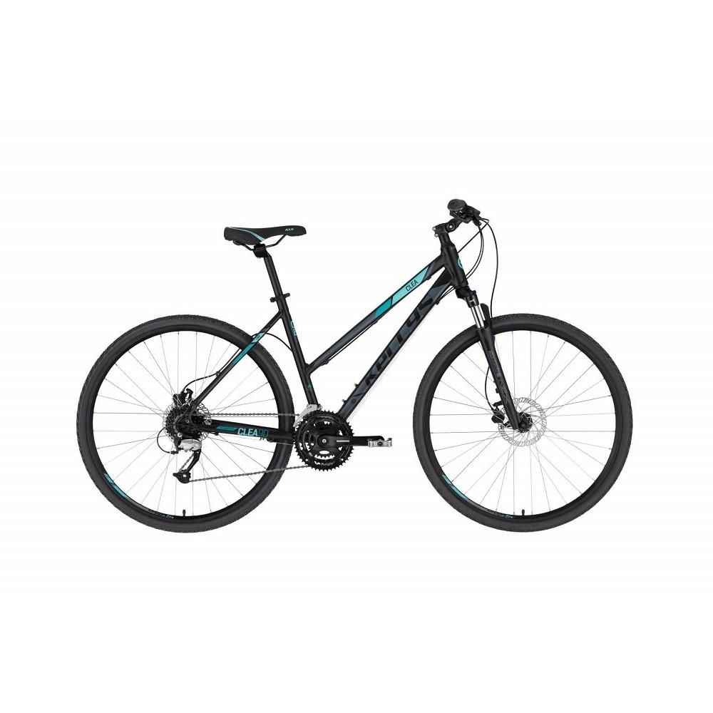 "Dámsky crossový bicykel KELLYS CLEA 90 28"" - model 2021 Black Aqua - S (17'')"