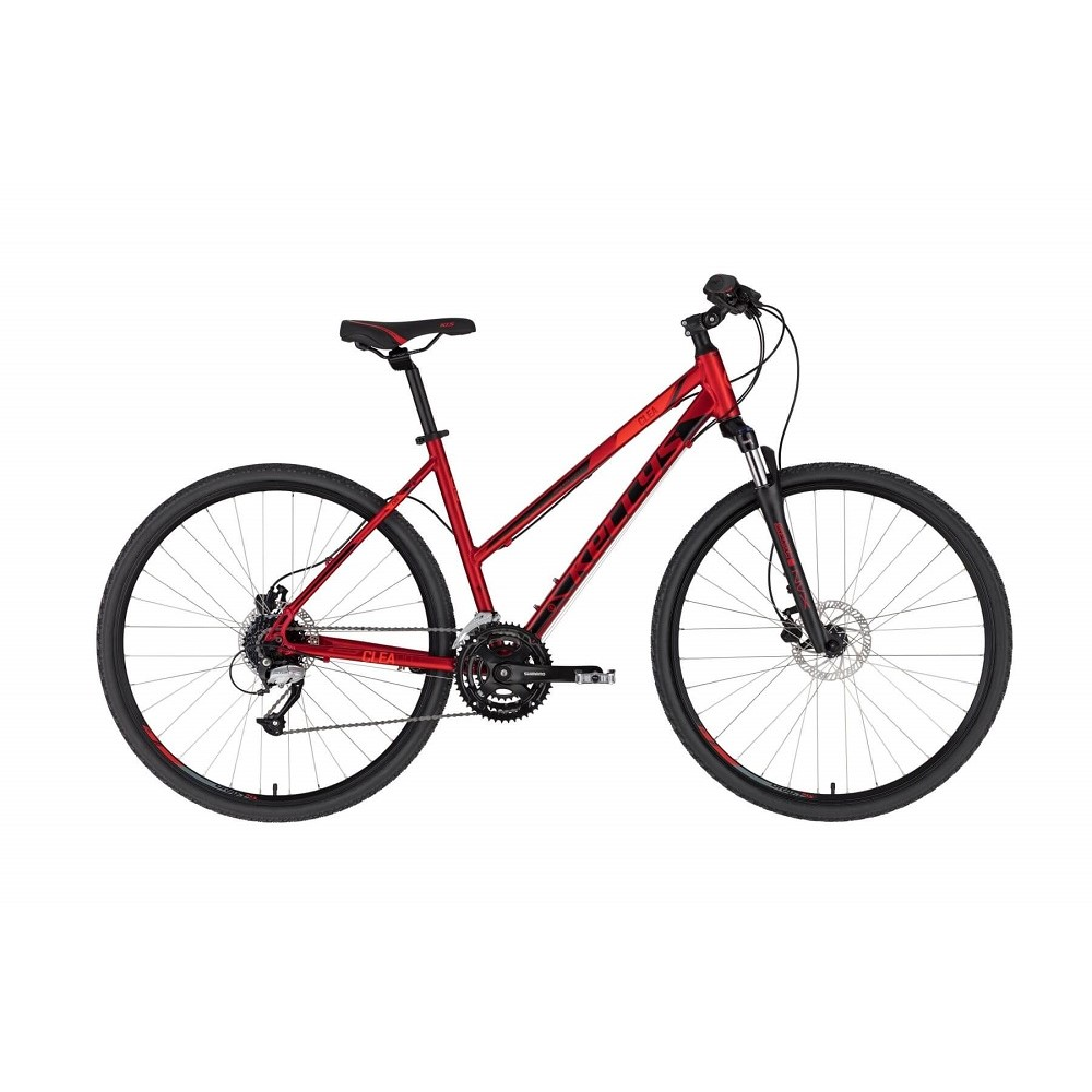 "Dámsky crossový bicykel KELLYS CLEA 90 28"" - model 2021 Dark Red - S (17'')"