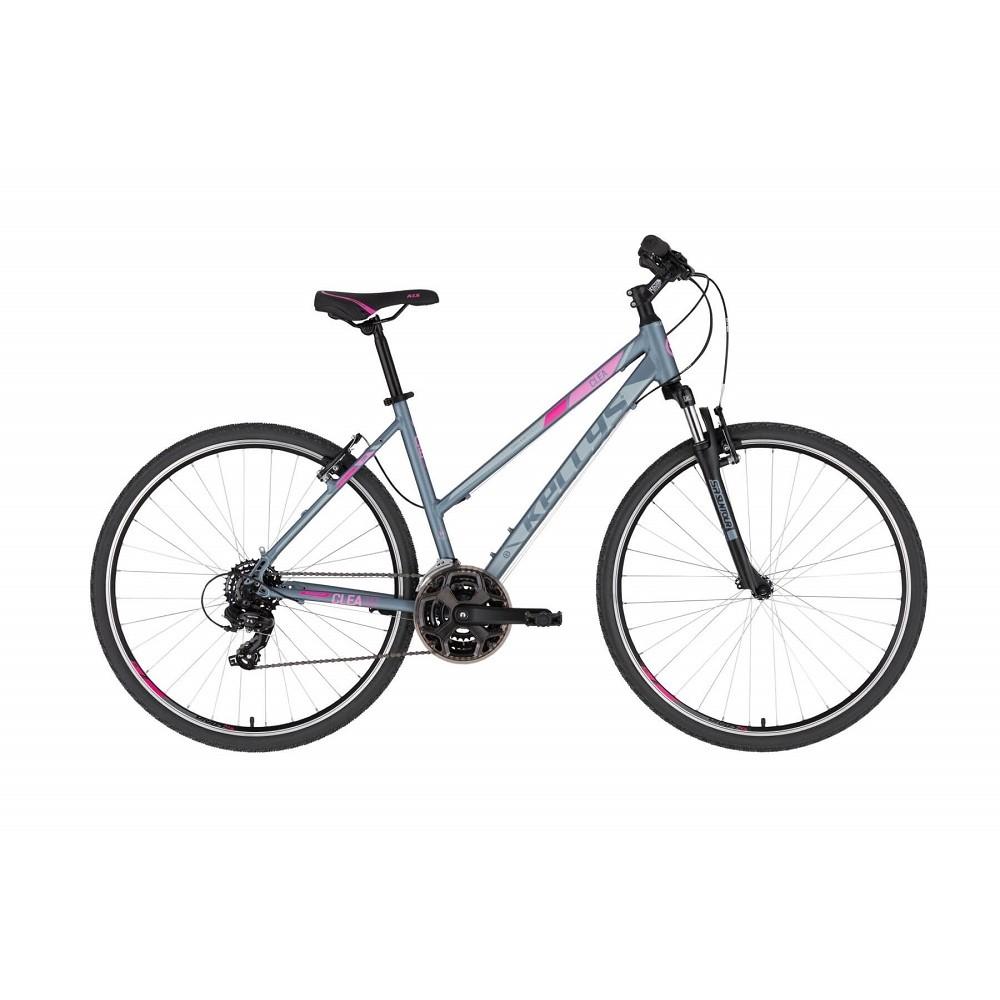 "Dámsky crossový bicykel KELLYS CLEA 10 28"" - model 2021 Grey Pink - S (17'') - Záruka 10 rokov"