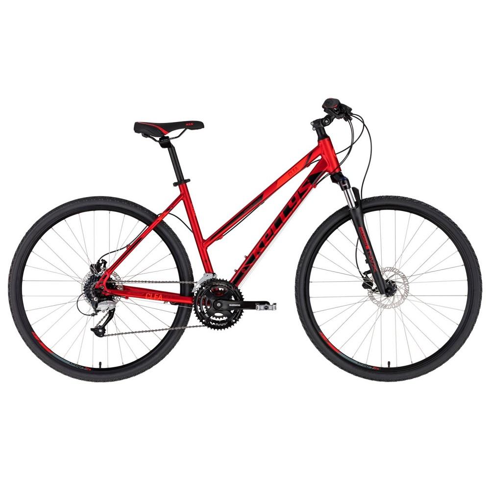 """Dámsky crossový bicykel KELLYS CLEA 90 28"""" - model 2020 Dark Red - S (17'') - Záruka 10 rokov"""