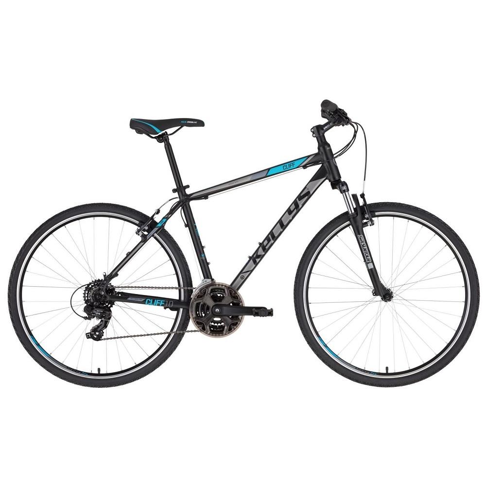 """Pánsky crossový bicykel KELLYS CLIFF 10 28"""" - model 2020 Black Blue - S (17'') - Záruka 10 rokov"""