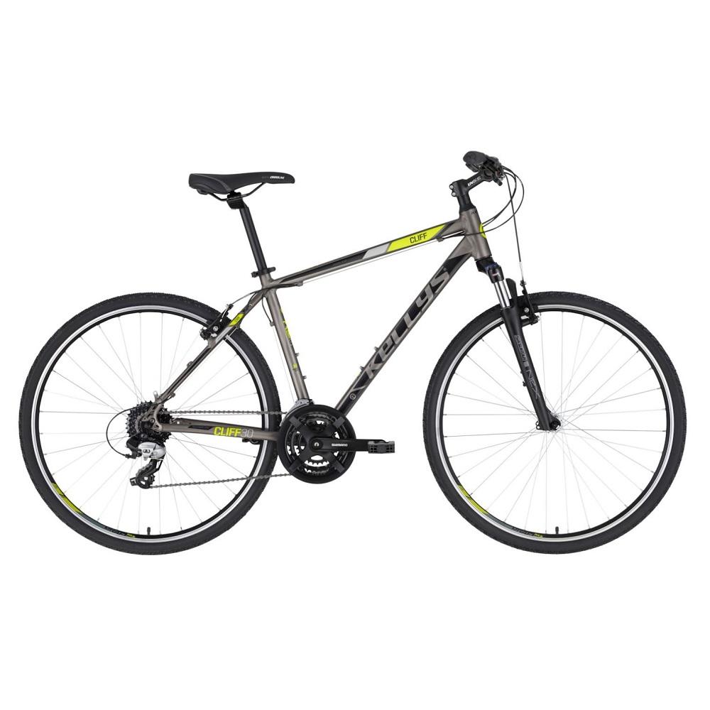 """Pánsky crossový bicykel KELLYS CLIFF 30 28"""" - Model 2020 Grey - S (17'') - Záruka 10 rokov"""