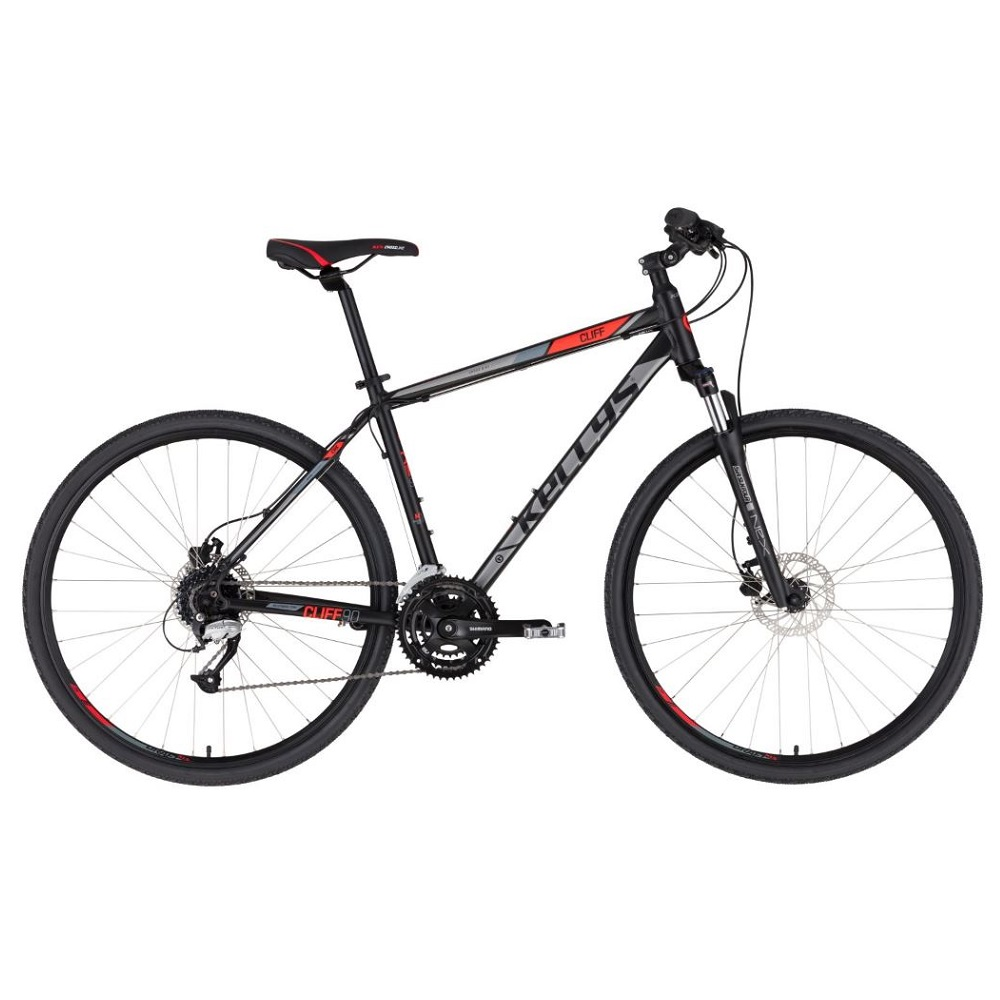 """Pánsky crossový bicykel KELLYS CLIFF 90 28"""" - Model 2020 Black Red - S (17'') - Záruka 10 rokov"""