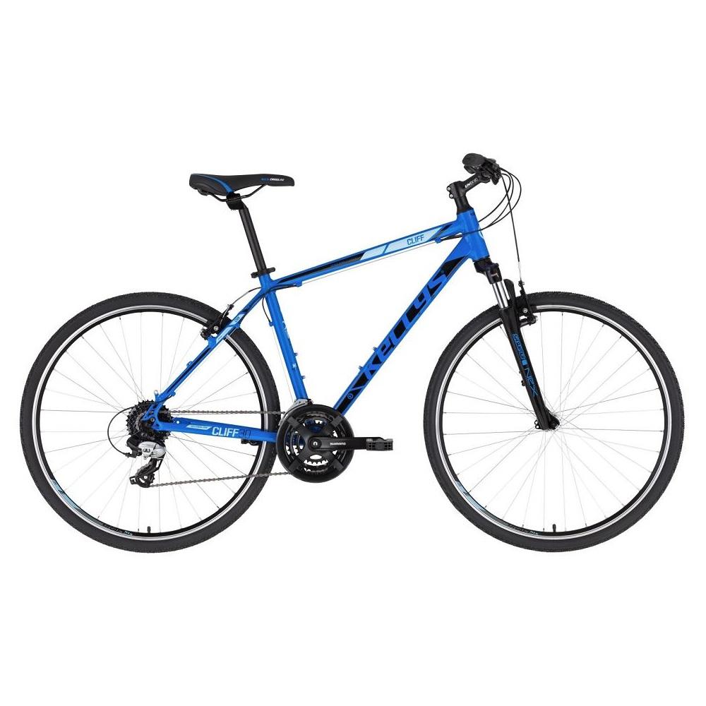 """Pánsky crossový bicykel KELLYS CLIFF 30 28"""" - Model 2020 blue - M (19'') - Záruka 10 rokov"""